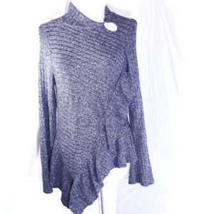 Knitted&Knotted Anthro Cascading Ruffle Sweater M